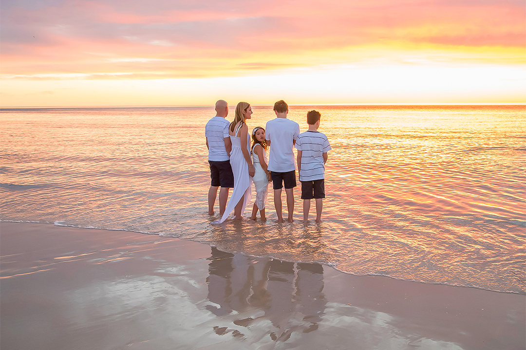 family photography slider lovely beach sunset