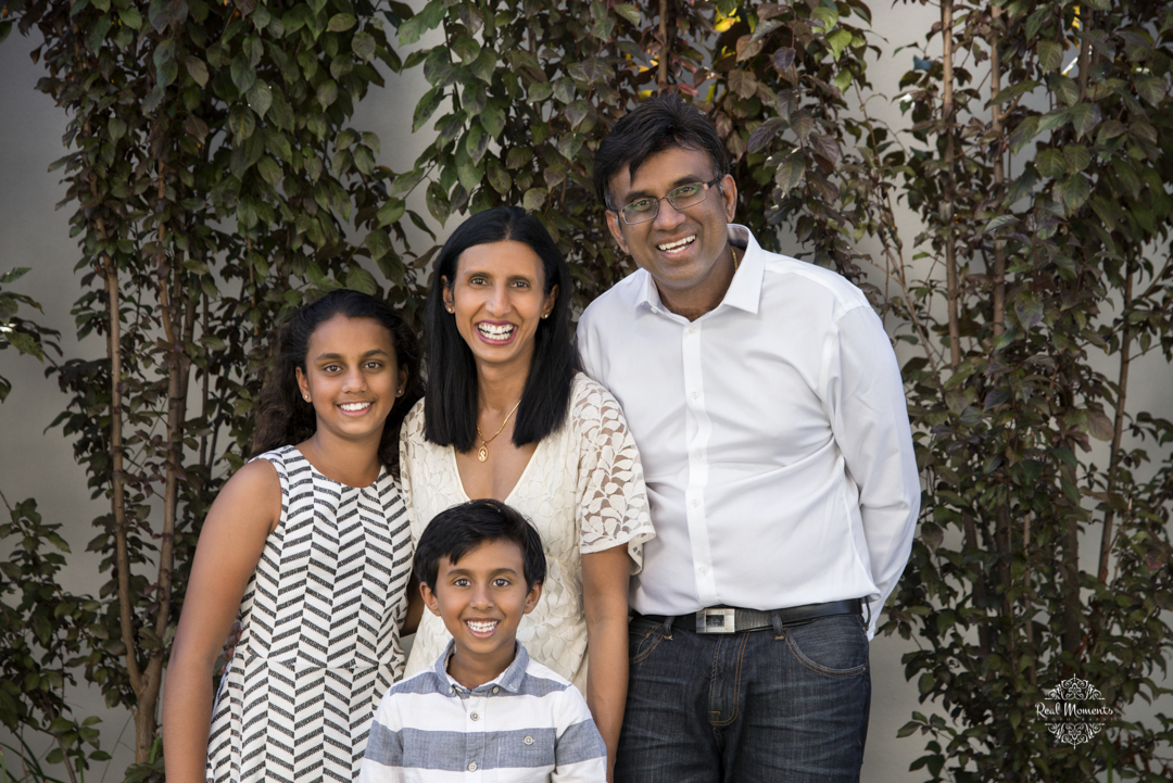 A portrait of the Mahadavans taken in their home in Adelaide