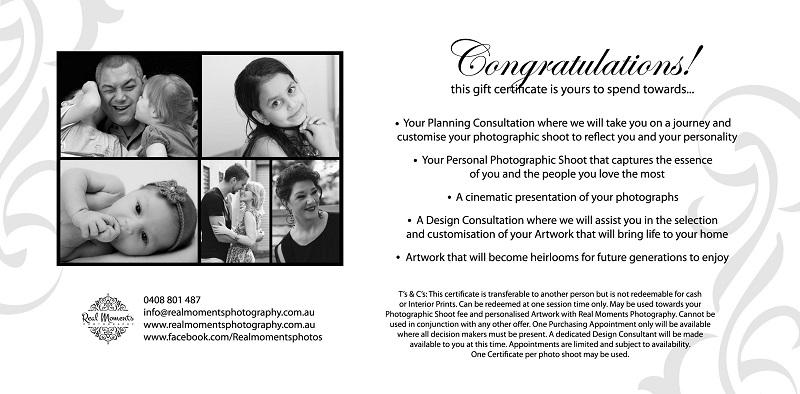 AIPP certified photographer gift voucher