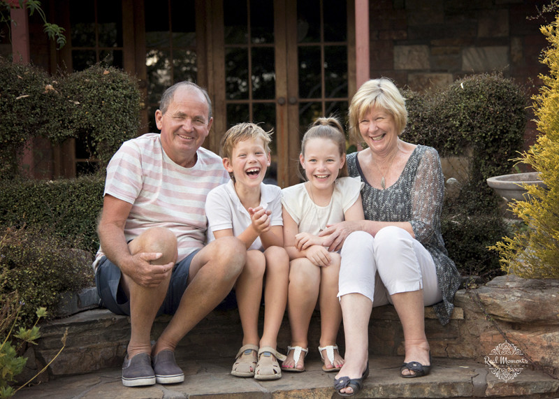 Adelaide family professional photography - kids with their grandparents