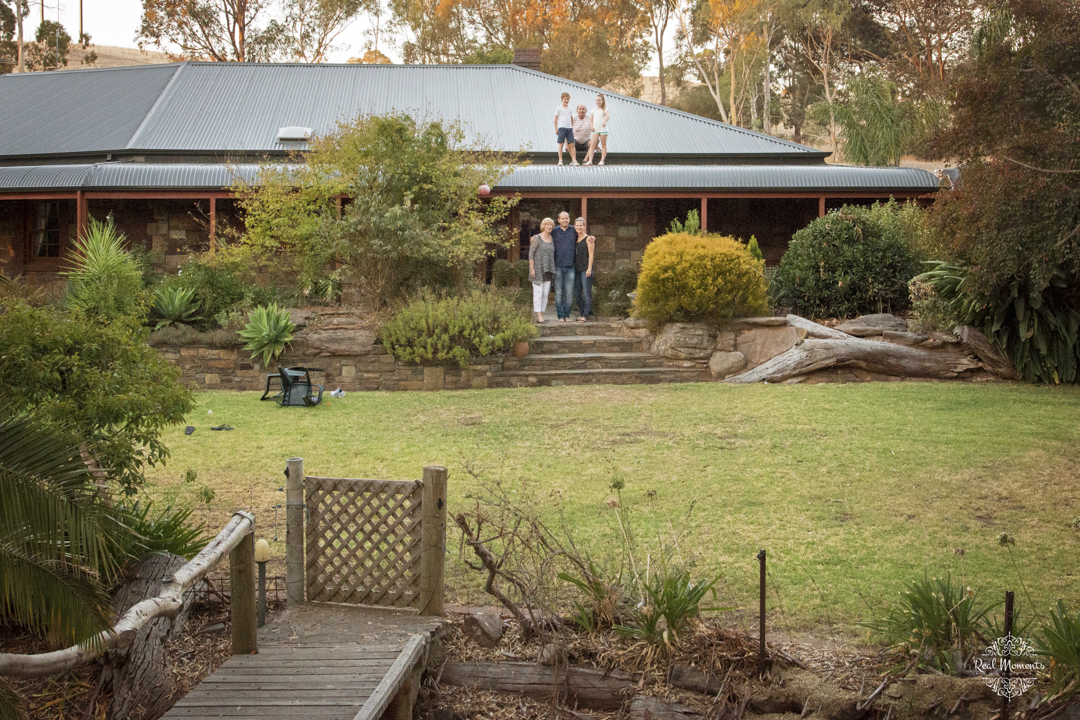 Adelaide family professional photography - a family and their home