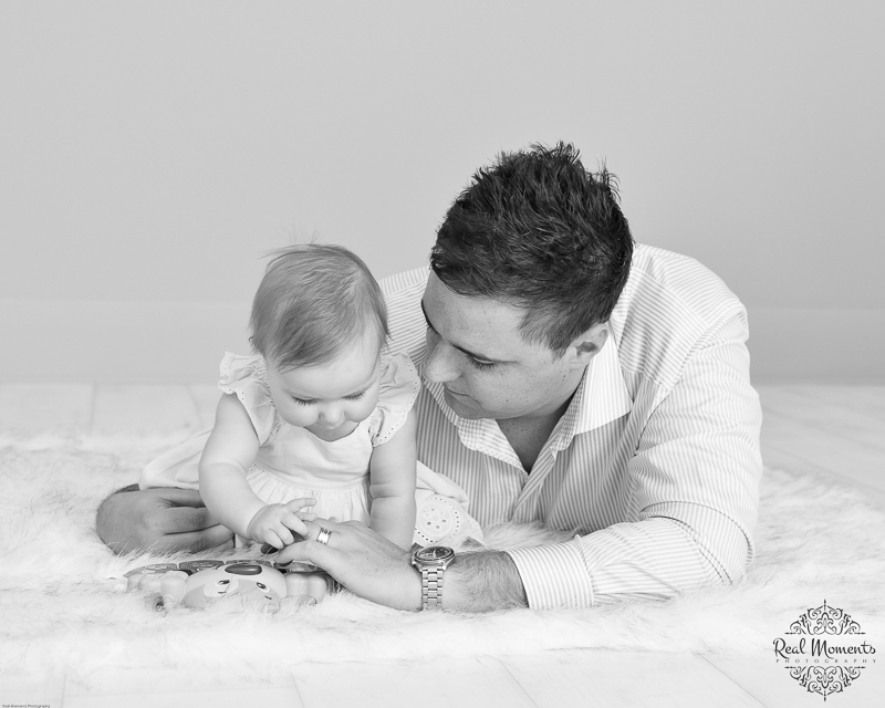 AIPP certified photographer Adelaide - portrait of a baby with her dad