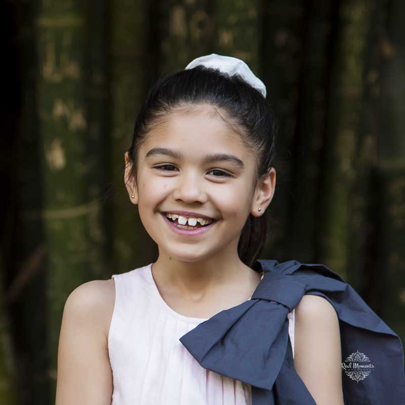 Family portrait photography - photo of a girl smiling
