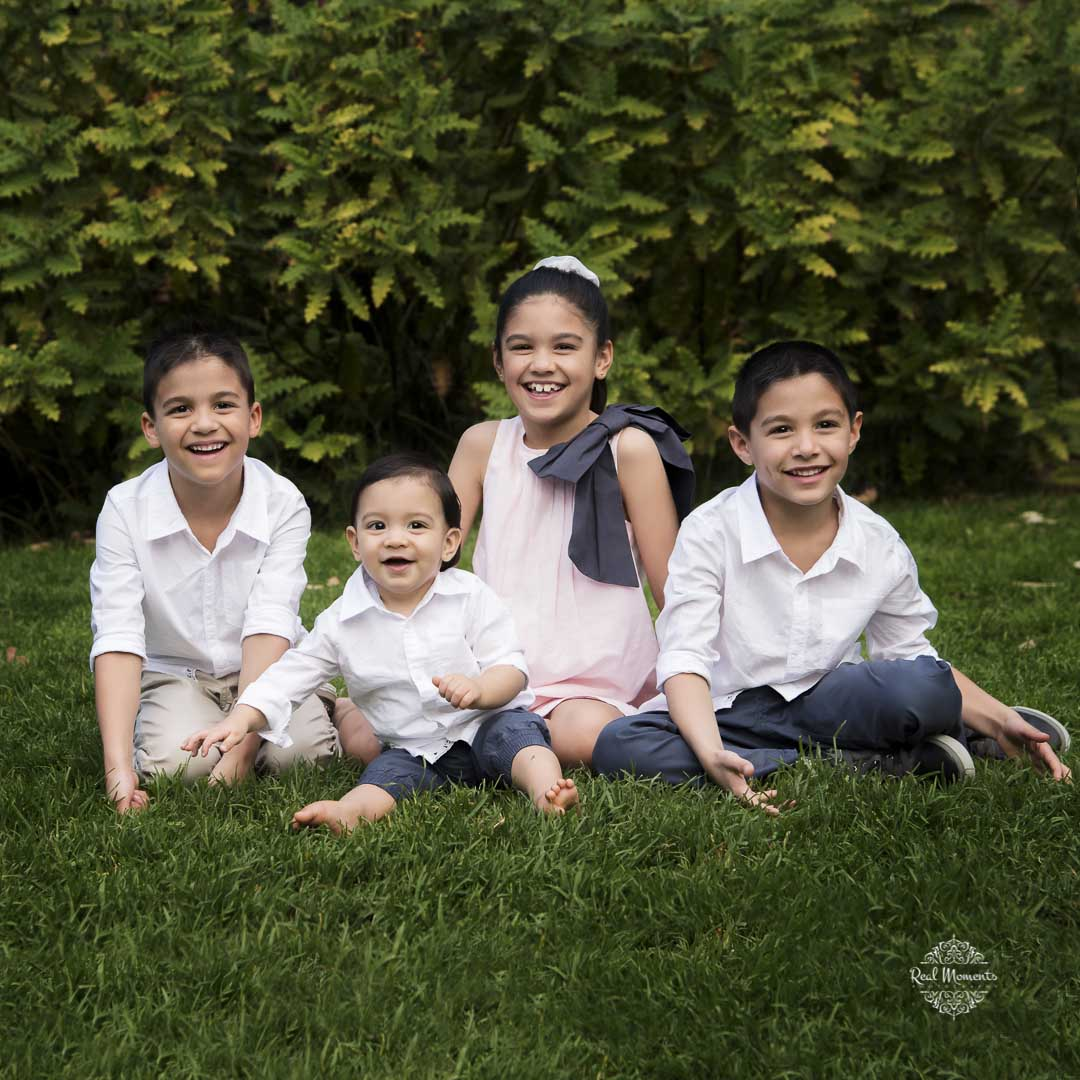 family photography Adelaide - portrait of four kids