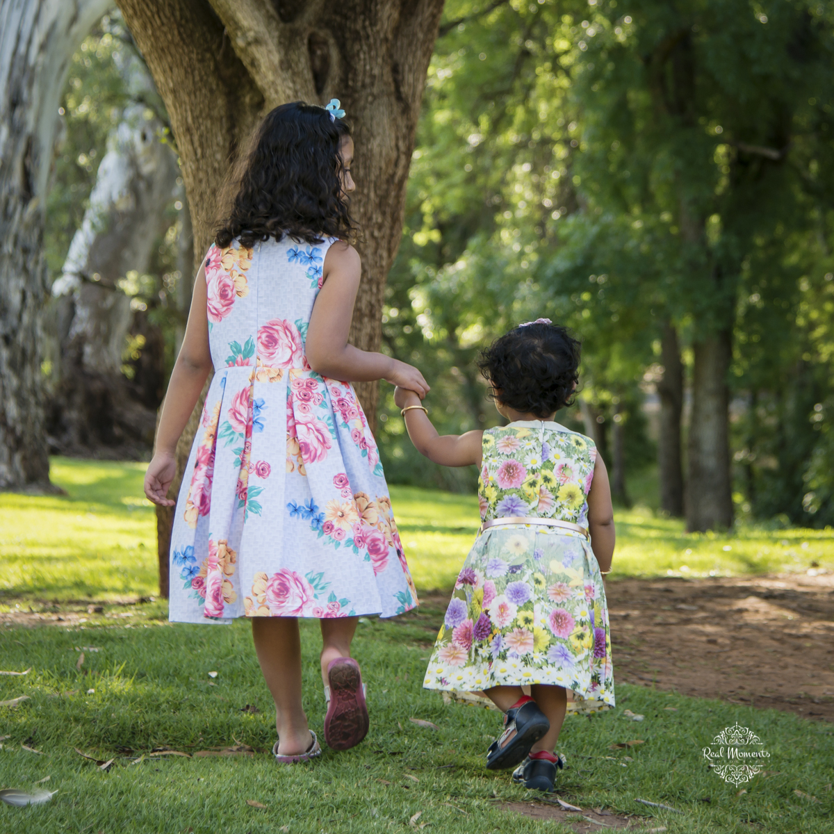 perfect for interior wall art - professional family photographer - photo of little girls walking
