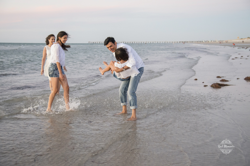 AIPP certified photographer Adelaide - photo of parents with kids playing in the beach
