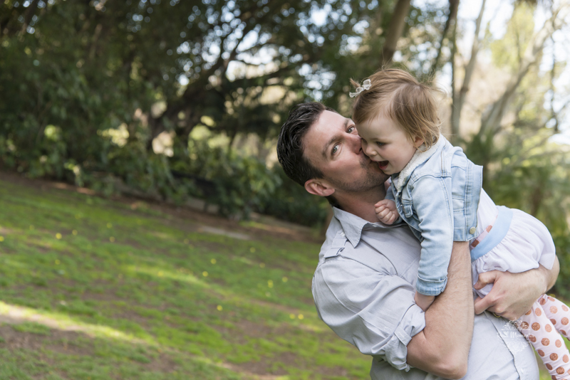 family photography Adelaide father kissing his baby daughter