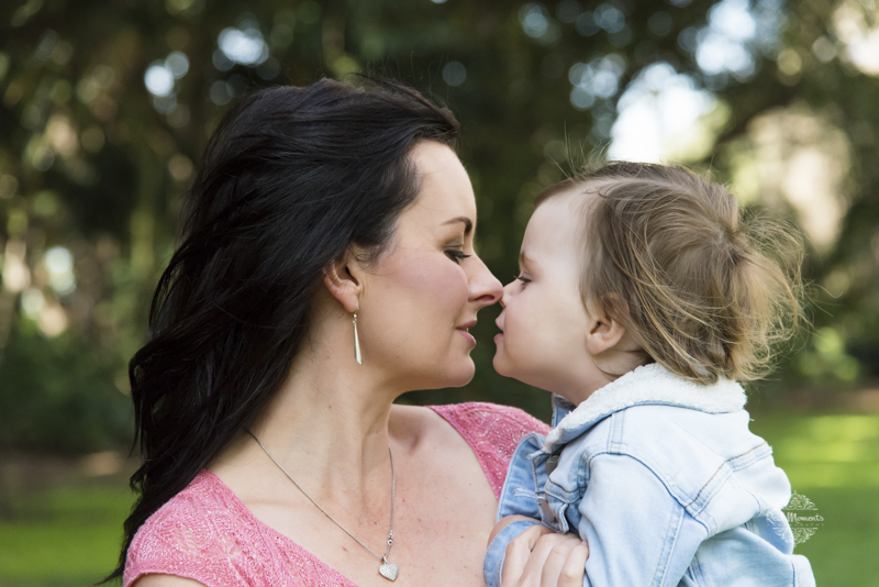 family photography Adelaide - beloved - mother kissing her daughter