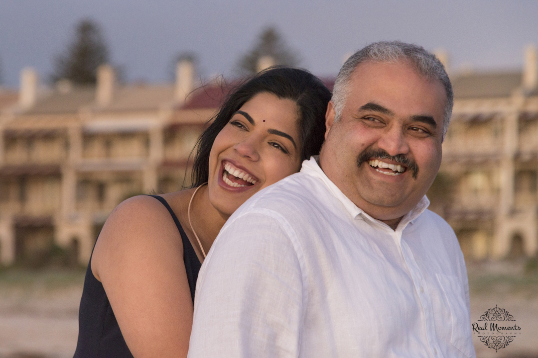 Professional family photography - portrait of the Taranath couple