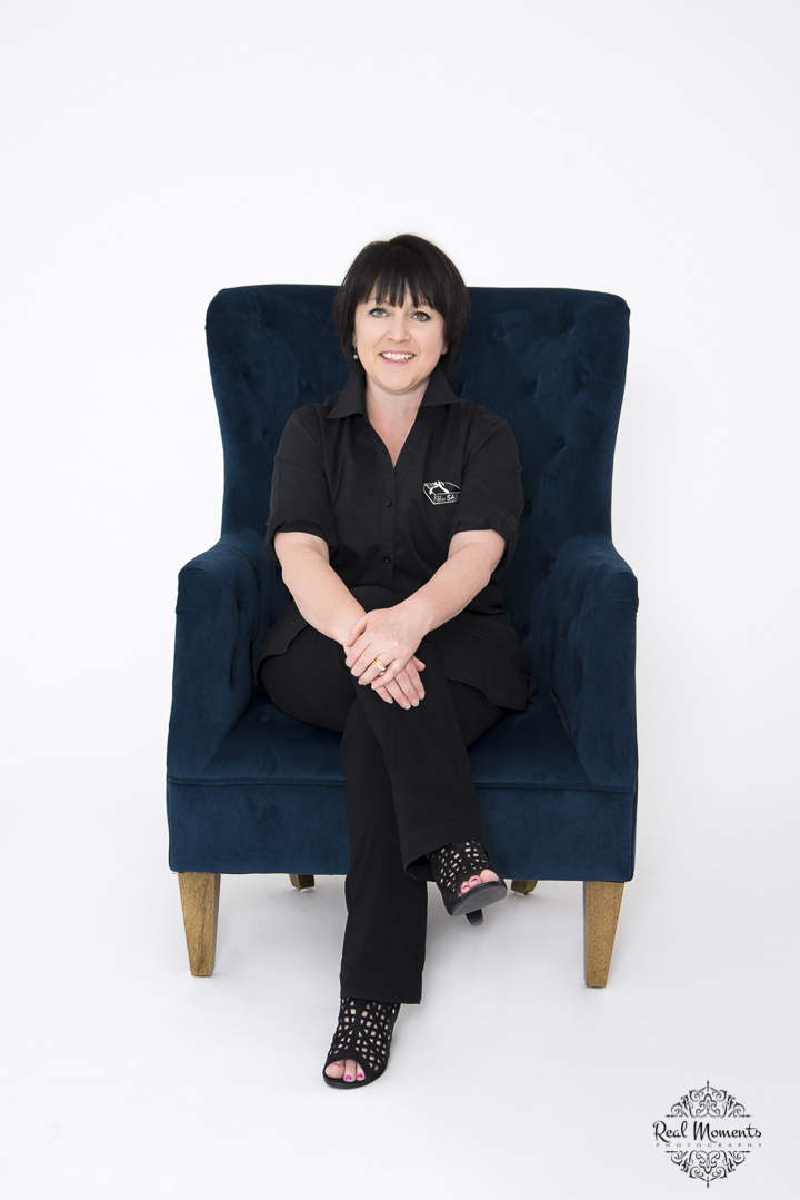 Women in business photography: corporate portrait photo of boxsalicious owner