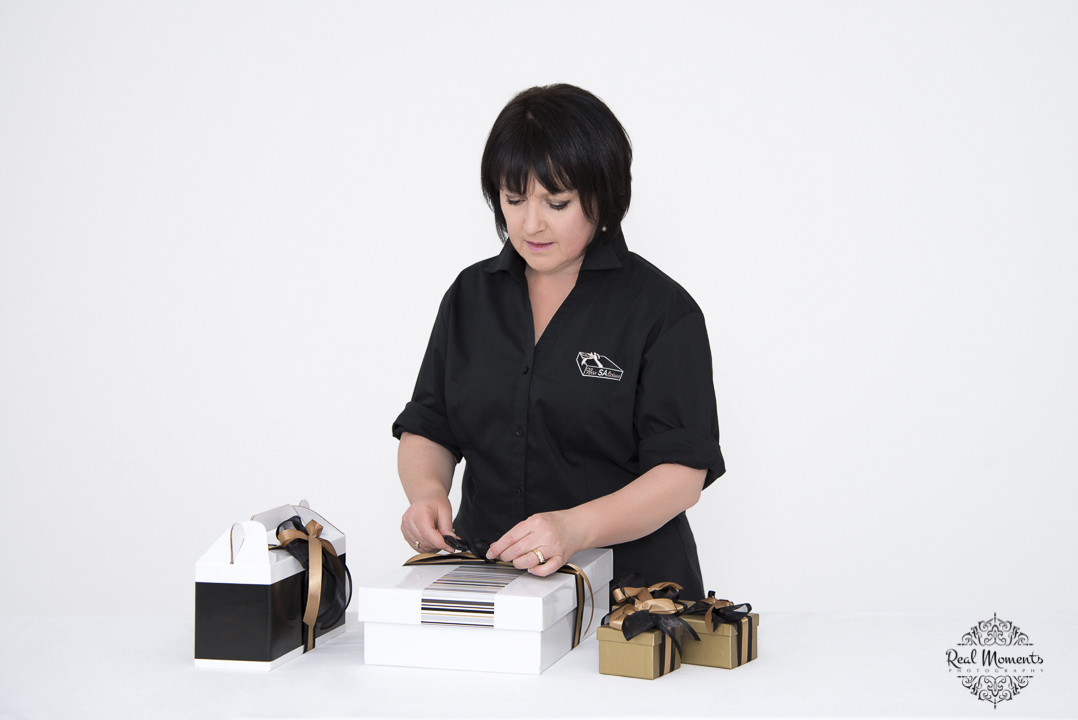 Women in business photography: boxsalicious products being created