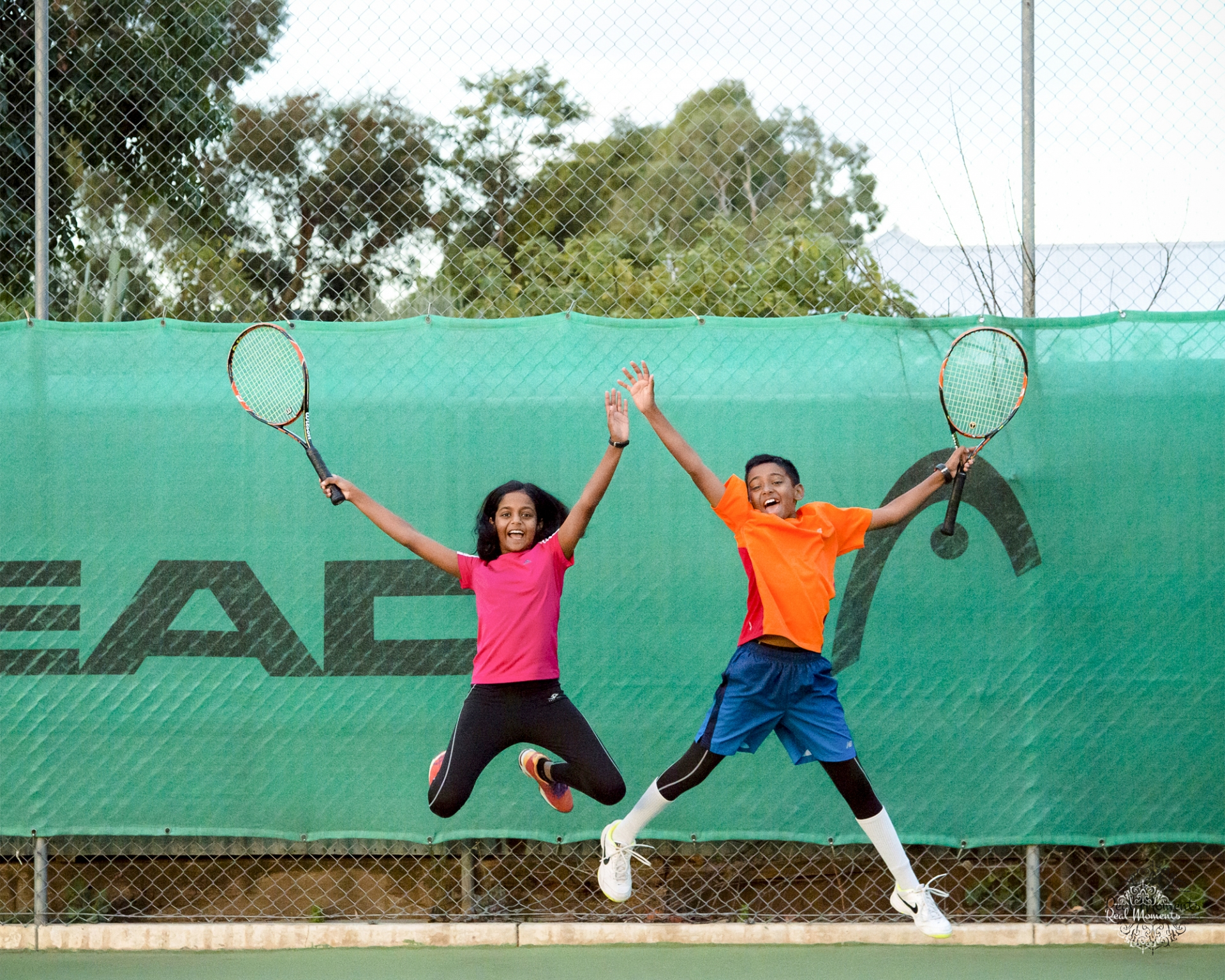 wall art ready family photography - siblings tennis