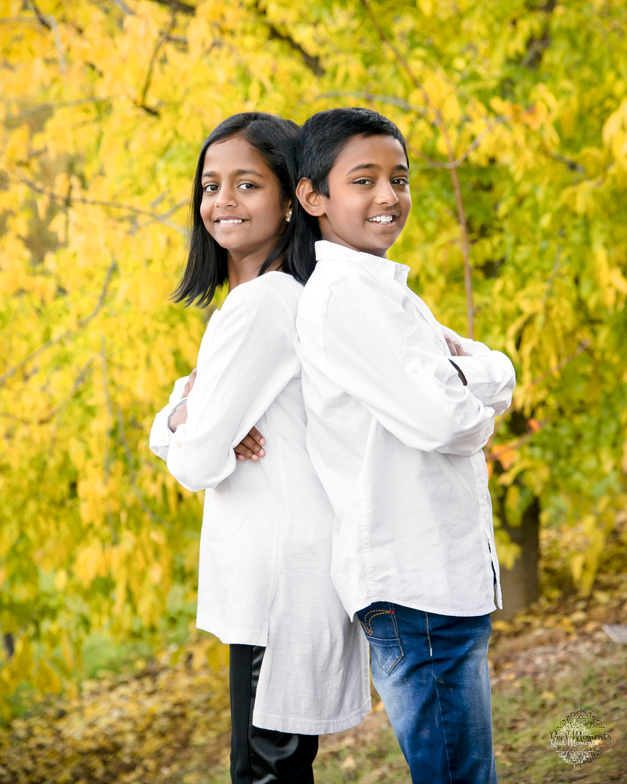 wall art ready family photography - autumn siblings
